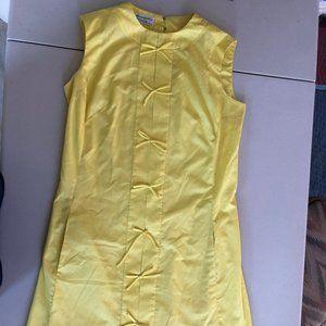 vintage yellow a&f dress
